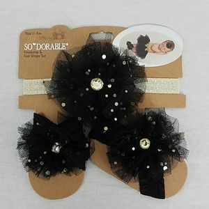 So Dorable Headband & Foot Wrap Set